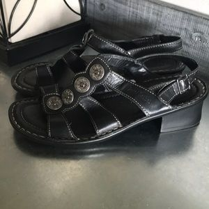 Josef Seibel Black block heel sandals